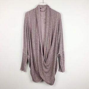 Free People | Purple Sheila faux Wrap Knit Top M